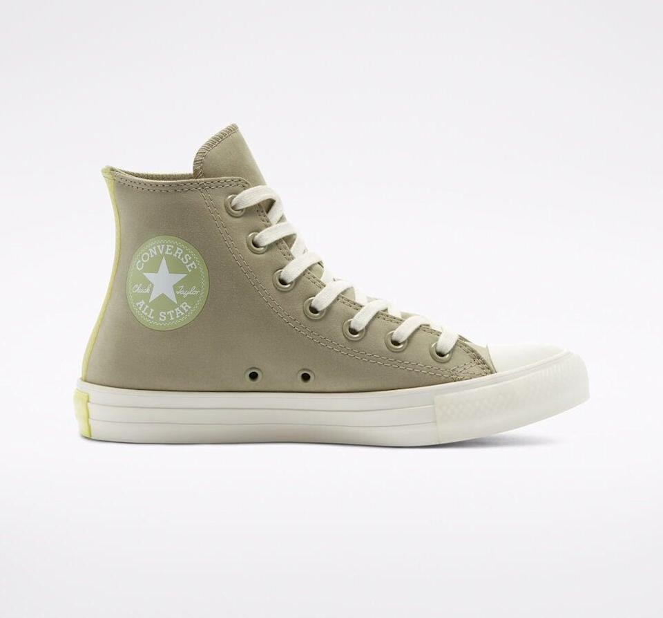 """<p><span>Converse Alt Exploration Chuck Taylor All Star Sneakers</span> ($65)</p> <p>""""The soft sage green shade of these sneakers if perfect for spring. I'll wear them with jeans as well as midi dresses."""" - Macy Cate Williams, senior editor, Shop</p>"""