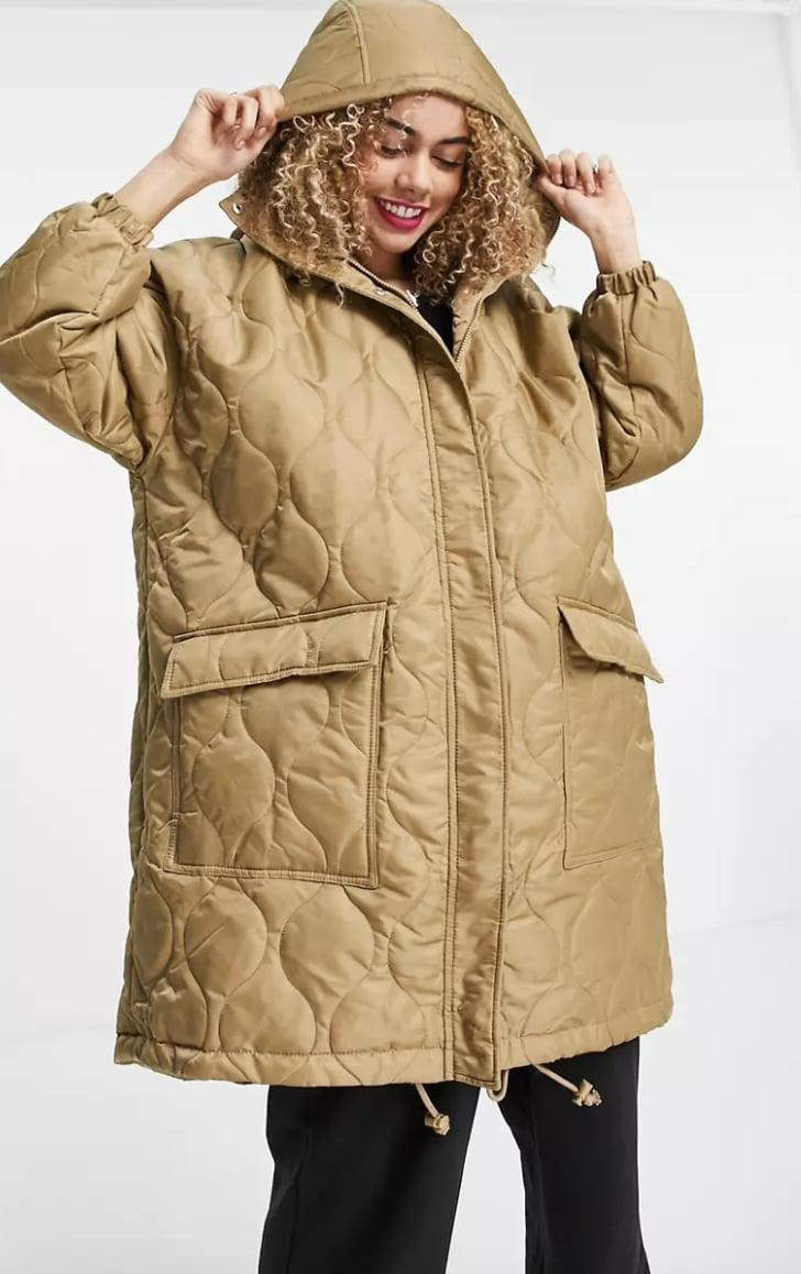 <p><span>Collusion Unisex Lightweight Longline Quilted Jacket</span> ($61, originally $87) </p>