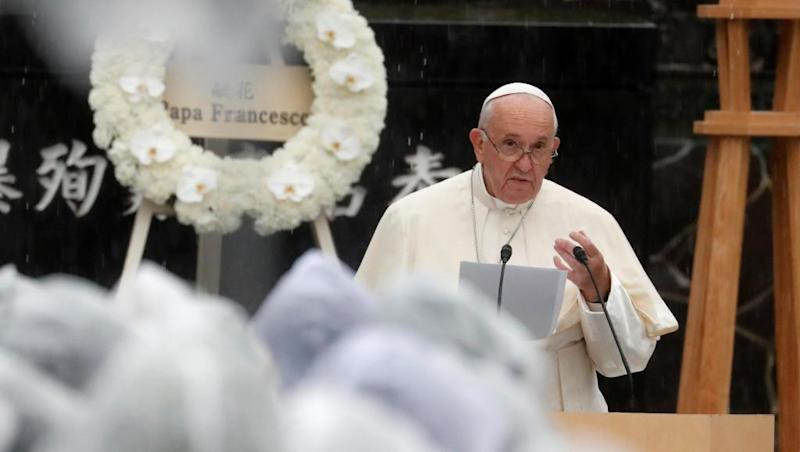 Pope denounces nuclear weapons in Nagasaki speech