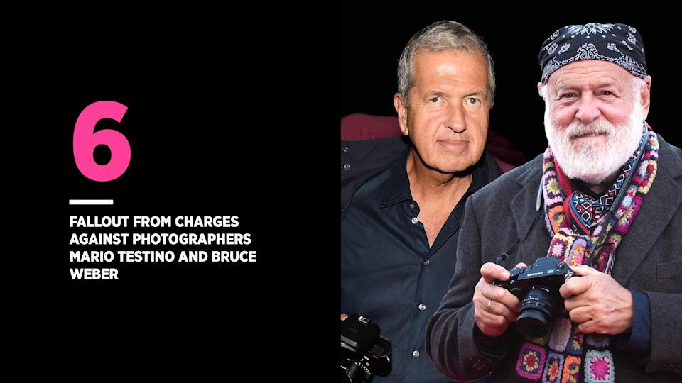 Models and assistants accused photographers Mario Testino and Bruce Weber of sexual misconduct. (Photo: Getty Images)