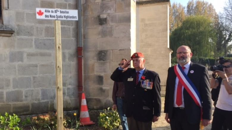 French village renames street to honour Nova Scotia Battalion from WW I
