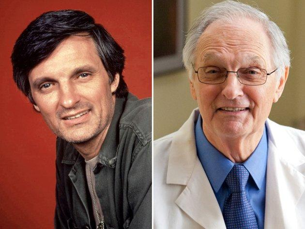 """<b>Alan Alda (Captain Benjamin Franklin """"Hawkeye"""" Pierce)</b><br><br>Hawkeye, the illustrious chief surgeon and ringleader in the Swamp, was the only character to appear in every episode of the series. Alan Alda not only played Hawkeye, but also eventually began writing, directing, and producing the series. He is also the only person associated with the show to win an Emmy for acting, writing, and directing. While he is synonymous with his """"M*A*S*H"""" role, he has managed to have a full career well beyond the tent flaps of the 4077th.<br><br>After """"M*A*S*H,"""" Alda was involved in a string of movies, both in front of and behind the camera, including """"Sweet Liberty"""" in 1986, Woody Allen's """"Crimes and Misdemeanors"""" in 1989, """"Flirting With Disaster"""" in 1996, and """"Murder at 1600"""" in 1997. But it wasn't until his turn as Senator Owen Brewster in Martin Scorsese's """"The Aviator"""" in 2004 that he finally got an Oscar nod.<br><br>In 1999, Alda returned to his roots as a TV doctor on """"ER"""" as Dr. Gabriel Lawrence. On the sixth season of """"The West Wing,"""" he made his first appearance as U.S. senator and presidential candidate Arnold Vinick. He won an Emmy for the role in 2006.<br><br>More recently, Alda made several appearances on """"30 Rock"""" playing Jack Donaghy's father, earning another Emmy nod, and Dr. Atticus Sherman on """"The Big C."""" He also appeared in the 2011 film """"Tower Heist"""" and the 2012 movie """"Wanderlust."""""""