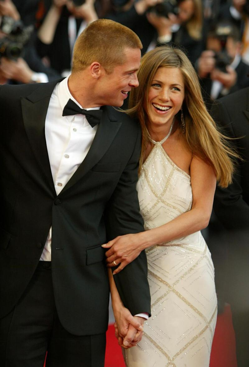 Jen and Brad were the golden couple of Hollywood after they tied the knot in 2000. Photo: Getty