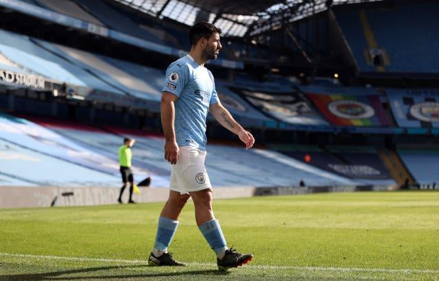 Sergio Aguero looked off the pace against the Hammers