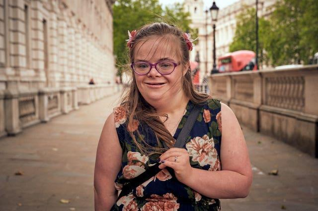 Heidi Crowter, who has Down's syndrome, is part of the campaign