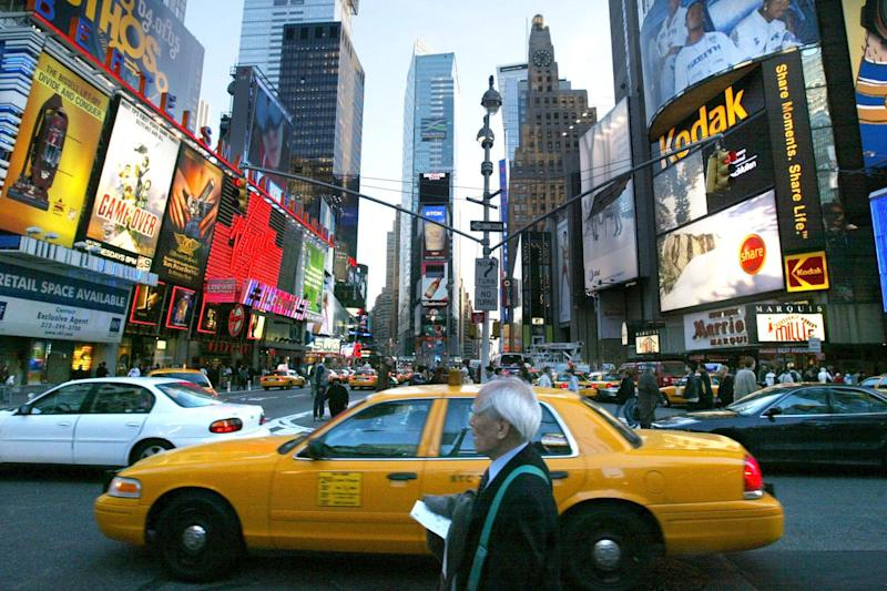 Barriers are to be introduced at sites such as Times Square: Mario Tama/Getty Images