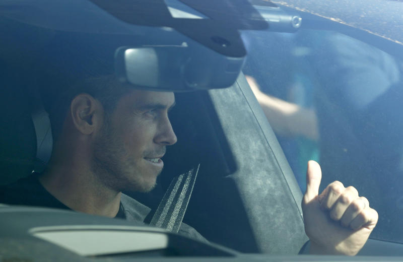 Gareth Bale arrived at the training ground on Friday