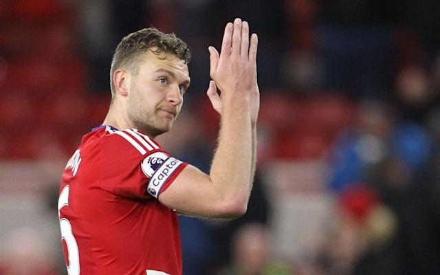 West Bromwich Albion are very interested in signing Middlesbrough's Ben Gibson but are balking at the £30m asking price - Rex Features