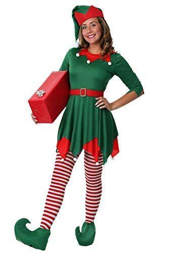 """<p><strong>Fun Costumes</strong></p><p>amazon.com</p><p><strong>$34.99</strong></p><p><a href=""""http://www.amazon.com/dp/B07HKLR58M/?tag=syn-yahoo-20&ascsubtag=%5Bartid%7C10072.g.28615520%5Bsrc%7Cyahoo-us"""" rel=""""nofollow noopener"""" target=""""_blank"""" data-ylk=""""slk:SHOP NOW"""" class=""""link rapid-noclick-resp"""">SHOP NOW</a></p><p>If you're already counting down the days until Christmas, why not use this adorable elf costume as an excuse to channel all that holiday spirit?</p>"""