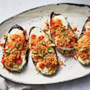 <p>The eggplant is tender and cheesy and the sauce is juicy and fresh in this easy grilled eggplant Parmesan recipe. The toasted panko mixture gives this summery dish extra crunch.</p>