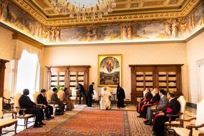 Zayed Award for Human Fraternity Judging Committee meets with Pope (PRNewsfoto/Zayed Award for Human Fraternity)