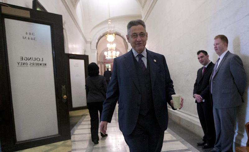 Assembly Speaker Sheldon Silver, D-Manhattan, walks to a Democratic conference room at the Capitol on Tuesday, Jan. 15, 2013, in Albany, N.Y. The Assembly today is expected to pass New York's Secure Ammunition and Firearms Enforcement Act which passed in the Senate last night. (AP Photo/Mike Groll)