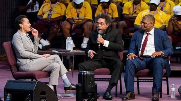 PHOTO: Yvette Carnell, Cornel West and Antonio Moore are shown at the Inagural ADOS Conference at St. Stephen Church, in Louisville, Ky., Oct. 4, 2019. (ADOS Philadelphia Chapter)