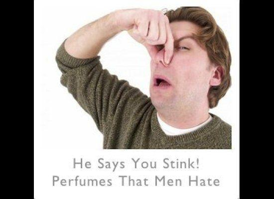 """f you're a woman who accessorizes with perfume, consider this: According to men, you might stink!,"" <a href=""http://magazine.foxnews.com/style-beauty/he-says-you-stink-perfumes-men-hate#ixzz1ypYvVneL"" target=""_hplink"">writes Style & Beauty Editor, Amber Milt</a>."
