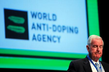 FILE PHOTO:  Reedie, President of the WADA attends the WADA Symposium in Ecublens