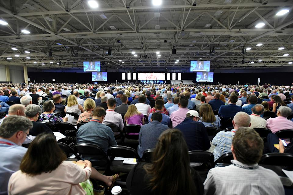 Southern Baptists convene at the 2018 annual meeting in Dallas. The formation of the Southern Baptist Convention was motivated by racism. (Photo: (AP Photo/Jeffrey McWhorter))