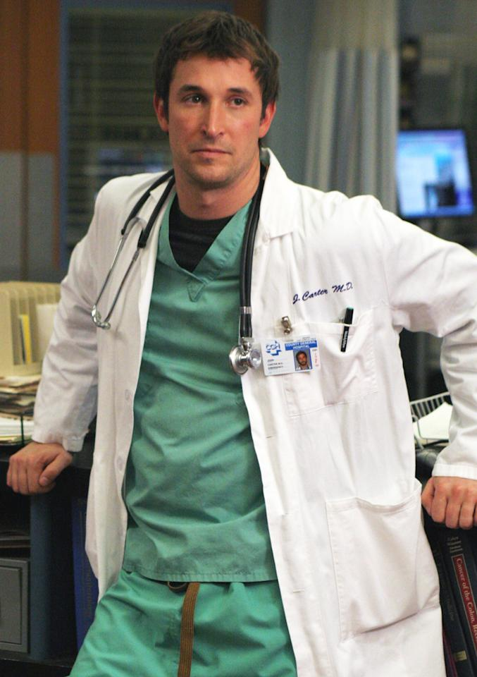 """<span style=""""font-weight:bold;"""">Noah Wyle </span>as Dr. John Carter, """"ER"""" (1994-2009)<br><br>Outstanding Supporting Actor in a Drama Series<br><br>0 wins, 5 consecutive nominations (1994-1999)"""