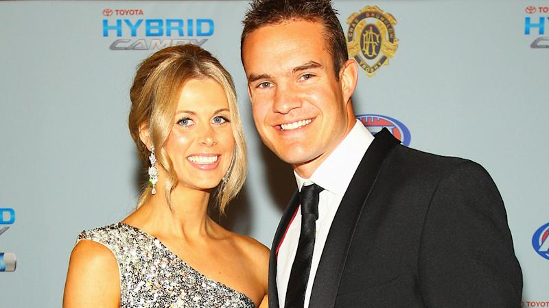 Brad and Anna Green, pictured here at the 2010 AFL Brownlow Medal.