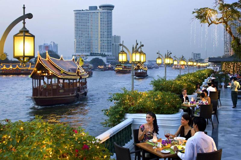 Dusk dining at The Oriental (The Oriental Bangkok)