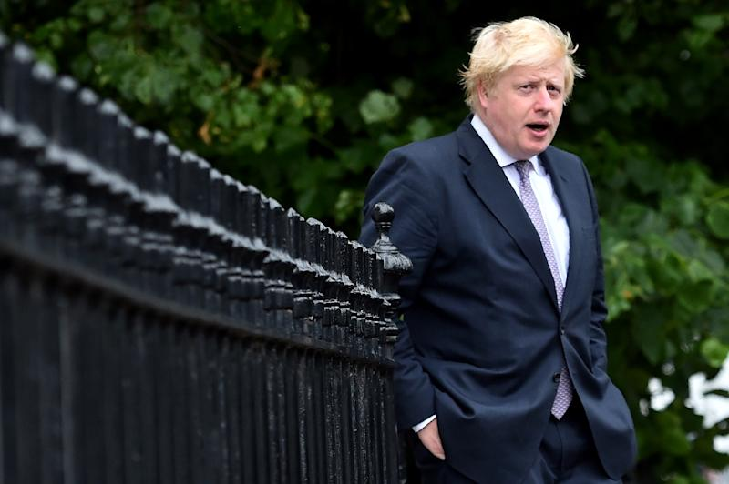 The Guardian daily reported that officers were alerted after neighbours said there had been a loud altercation at Boris Johnson's home (AFP Photo/BEN STANSALL)