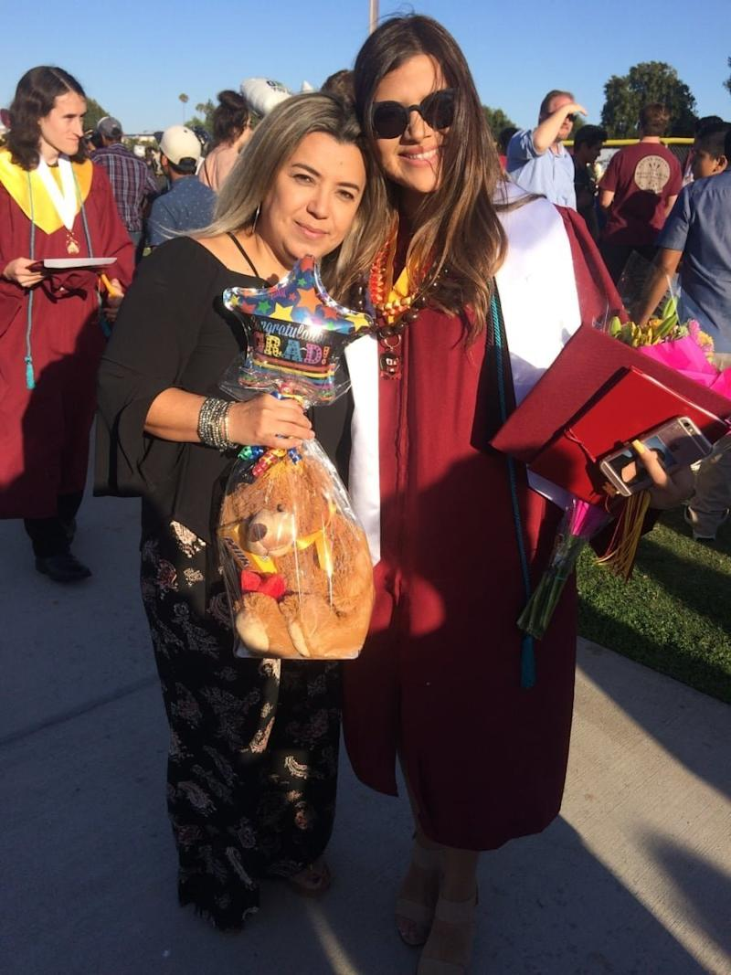 Karla and Tania at Karla's high school graduation. (Karla Martinez)