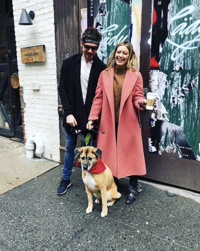 "<p>There's a new Duff in town! ""Hey guys! We adopted an old dog!"" the<em> Younger</em> star wrote, posing with boyfriend, Matthew Koma, and their latest, mature addition. ""Thank you so much @loveleorescue #welovelucy"" (Photo: <a href=""https://www.instagram.com/p/BgEsh_On6pB/?taken-by=hilaryduff"" rel=""nofollow noopener"" target=""_blank"" data-ylk=""slk:Hilary Duff via Instagram"" class=""link rapid-noclick-resp"">Hilary Duff via Instagram</a>) </p>"