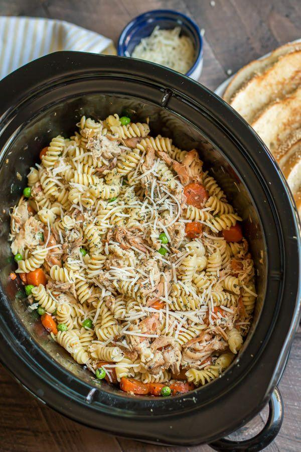 """<strong>Get the <a href=""""http://www.themagicalslowcooker.com/garlic-butter-chicken-pasta/"""" target=""""_blank"""">Garlic Butter Chicken And Pasta recipe</a>from The Magical Slow Cooker</strong>"""