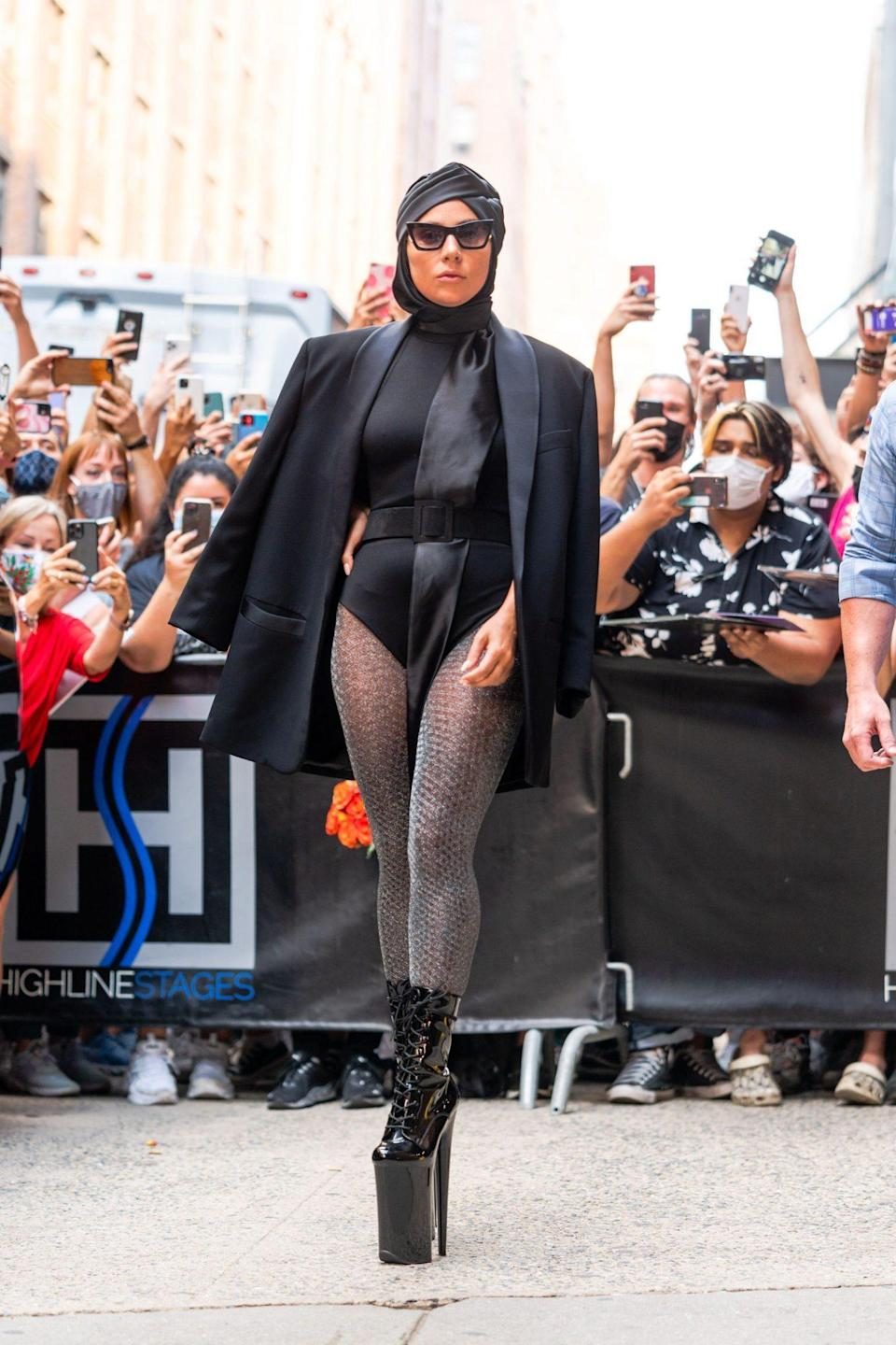 <p>Lady Gaga brings the drama to the streets of N.Y.C. on July 28.</p>