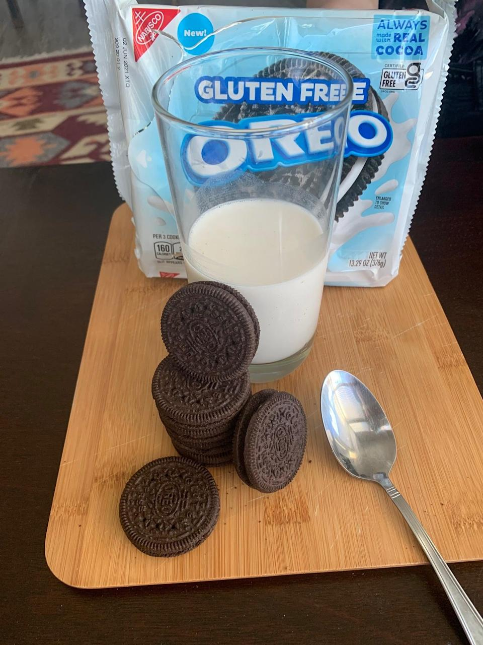 <p>Eating a dry Oreo and eating one that's been soaked in milk for <em>just</em> the right amount of time are two completely different experiences, and I decided it'd be irresponsible of me if I didn't try the gluten-free version both ways. After giving the cookie a decent soak, my opinion shot from a 10/10 to an 11/10. Needless to say, I will definitely be enjoying the rest of these with a cool glass of milk.</p>