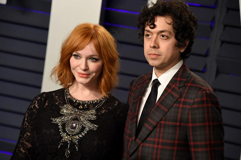 Actors Christina Hendricks and Geoffrey Arend are divorcing after being married for 10 years. (Photo: Gregg DeGuire/FilmMagic)