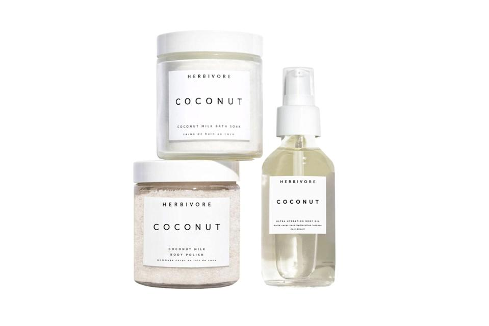 "$35, Nordstrom. <a href=""https://www.nordstrom.com/s/herbivore-botanicals-coconut-love-body-ritual-kit-usd-50-value/5610591"" rel=""nofollow noopener"" target=""_blank"" data-ylk=""slk:Get it now!"" class=""link rapid-noclick-resp"">Get it now!</a>"