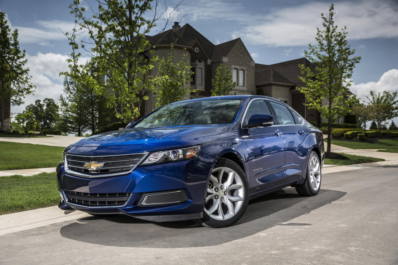 This undated photo made available by General Motors shows the 2014 Chevrolet Impala 2.5L iVLC. (AP Photo/GM)