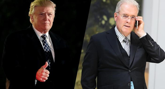 Donald Trump and Robert Mercer (Photos: Mark Kauzlarich/Reuters, Oliver Contreras/for the Washington Post via Getty Images)