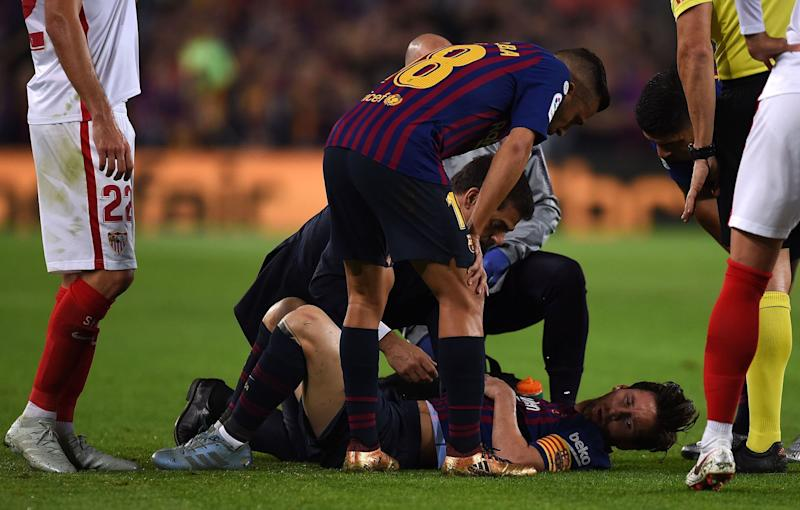 Lionel Messi injured