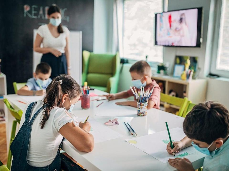 Air in classrooms was found to contain toxic chemicals in the US-based study (Getty)