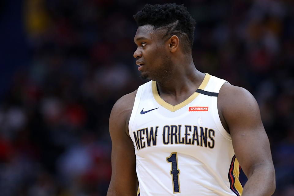 Zion Williamson has the Pelicans in position to make a playoff push. (Jonathan Bachman/Getty Images)