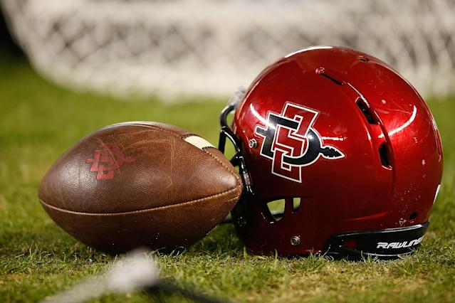 San Diego State athletic director John David Wicker said the school is still preparing to play its football season as scheduled. (Photo by Joe Scarnici/Getty Images)