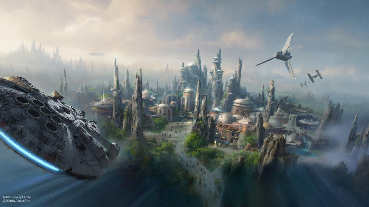 <p>Disney Imagineers promise to construct a completely immersive environment. When you're in Star Wars Land, you shouldn't be able to see any other part of the park. (Credit: Disney/Lucasfilm)</p>