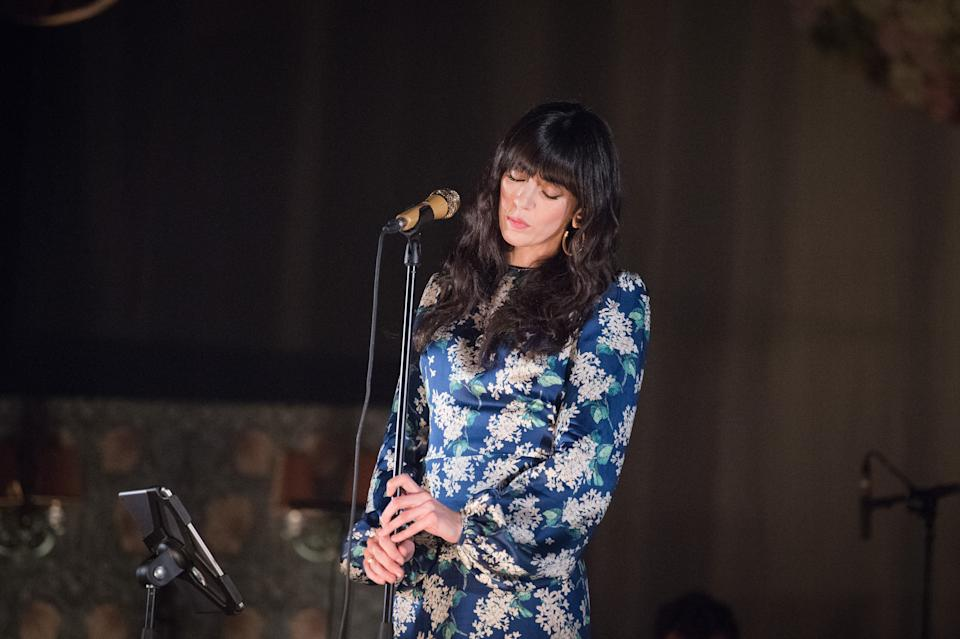 PARIS, FRANCE - MARCH 26:  Nolwenn Leroy performs at Le Trianon on March 26, 2019 in Paris, France.  (Photo by David Wolff - Patrick/Redferns)