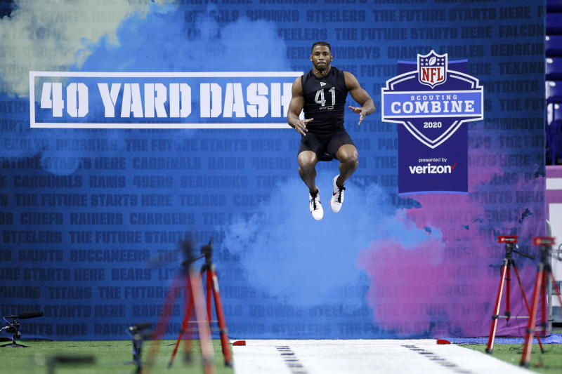 The NFL combine's TV viewership jumped up this year thanks to the new prime time slot. (Photo by Joe Robbins/Getty Images)