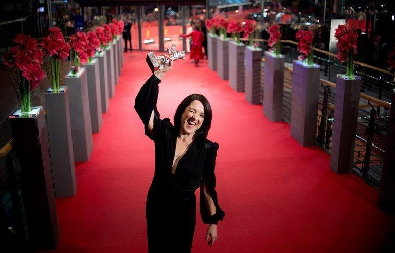 """Paulina Garcia receives the Silver Bear best actress award for her performance in """"Gloria"""" on February 16, 2013. She plays a middle-aged divorcee who refuses to give up on a shot at happiness"""