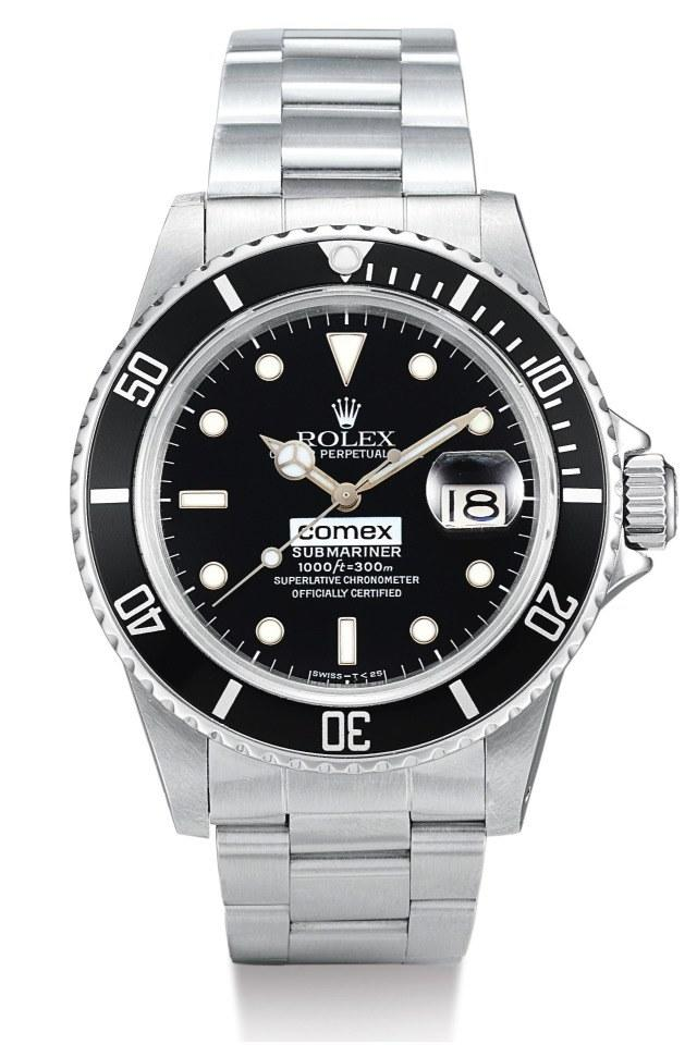 "The Rolex Submariner bearing the logo of the French-diving company COMEX that Mayer praised in his first Hodinkee ""Talking Watches"" video."