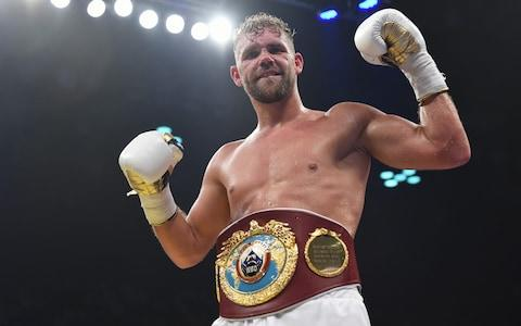 <span>Saunders is a two-time world champion</span> <span>Credit: Getty Images </span>