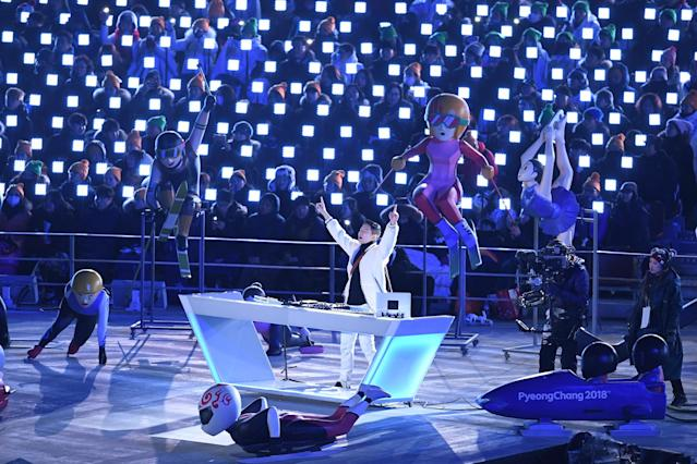 <p>DJ Raiden performs during the Closing Ceremony of the PyeongChang 2018 Winter Olympic Games at PyeongChang Olympic Stadium on February 25, 2018 in Pyeongchang-gun, South Korea. (Photo by David Ramos/Getty Images) </p>