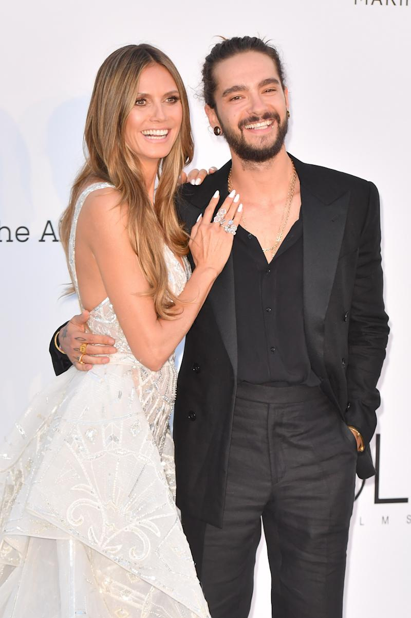 CAP D'ANTIBES, FRANCE - MAY 17: Heidi Klum and Tom Kaulitz arrive at the amfAR Gala Cannes 2018 at Hotel du Cap-Eden-Roc on May 17, 2018 in Cap d'Antibes, France. (Photo by Stephane Cardinale - Corbis/Corbis via Getty Images)