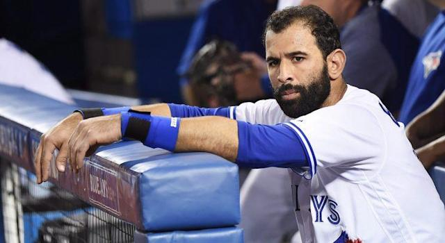 Jose Bautista was among a number of Blue Jays hitters who couldn't come through on Tuesday, now the team is off to a franchise-worst 1-6 start. (Nathan Denette/CP)