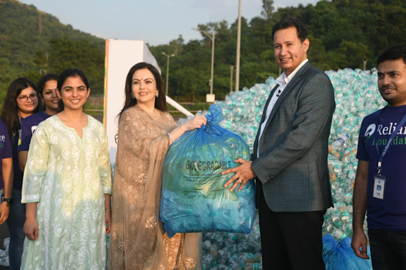 78 Tonnes of Waste Plastic Bottles Collected for Recycling by Over 3 Lakh Reliance Employees