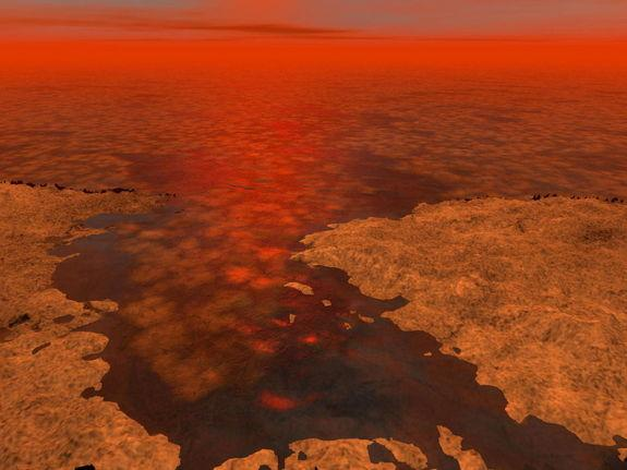 Saturn Moon Titan May Have Ice Floating in Lakes