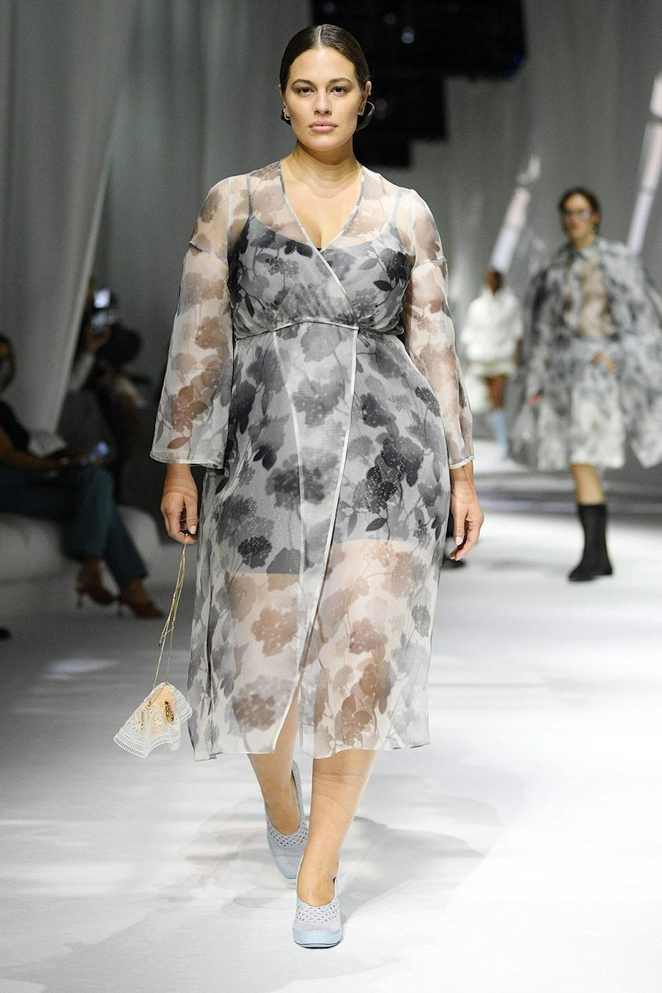 """<p>Fendi's Spring/Summer 2021 presentation marked the <a href=""""https://people.com/style/new-york-fashion-week-photos-september-2020/"""" rel=""""nofollow noopener"""" target=""""_blank"""" data-ylk=""""slk:first live show"""" class=""""link rapid-noclick-resp"""">first live show</a> of the season, where models (<a href=""""https://people.com/style/ashley-graham-walks-at-fendi-show-in-milan/"""" rel=""""nofollow noopener"""" target=""""_blank"""" data-ylk=""""slk:like Ashley Graham"""" class=""""link rapid-noclick-resp"""">like Ashley Graham</a>) walked the runway sans masks.</p>"""