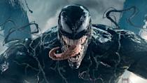 """Tom Hardy's unhinged superhero movie got Sony's not-quite-Spidey universe off to a bang back in 2018, achieving $856m (£630m) worldwide despite vastly <a href=""""https://uk.movies.yahoo.com/ruben-fleischer-still-cant-figure-out-why-critics-hated-venom-195407622.html"""" data-ylk=""""slk:negative critical reviews;outcm:mb_qualified_link;_E:mb_qualified_link;ct:story;"""" class=""""link rapid-noclick-resp yahoo-link"""">negative critical reviews</a>. <a href=""""https://uk.movies.yahoo.com/andy-serkis-to-direct-tom-hardy-in-venom-2-074228139.html"""" data-ylk=""""slk:Andy Serkis is behind the camera;outcm:mb_qualified_link;_E:mb_qualified_link;ct:story;"""" class=""""link rapid-noclick-resp yahoo-link"""">Andy Serkis is behind the camera</a> for this sequel, which will provide the pay-off to Woody Harrelson's introduction in the first movie's post-credits scene — playing fan favourite character Carnage. Symbiotes everywhere means heads will be bitten off. (Credit: Sony)"""